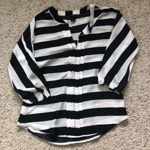 Ann Taylor Navy striped blouse